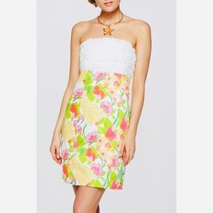 Lilly Pulitzer Franco Floral Strapless Dress 8